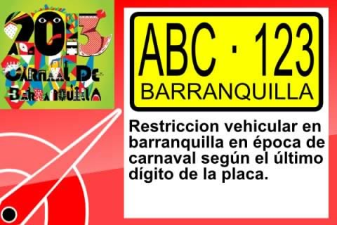 Restriction on movement of vehicles in Barranquilla